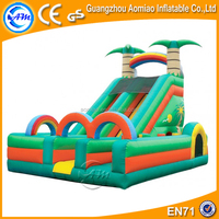 New style inflatable combo games 0.55mmPVC small inflatable bouncer with slide
