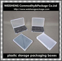 Top Quality Plastic transparent memory disk case/ disk case/Plastic USB packing box