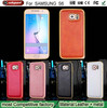 Leather Back Cover Case Metal Frame Bumper phone case For Samsung Galaxy S6