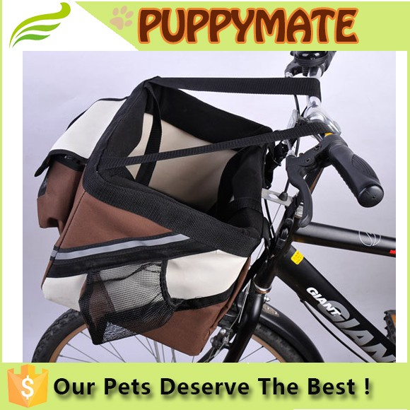Black dog carrier bicycle pet carrier for bike