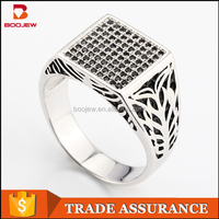 Best Seller 925 Silver Micro Pave CZ Men Ring New Model 925 Sterling Silver Arab Men Ring