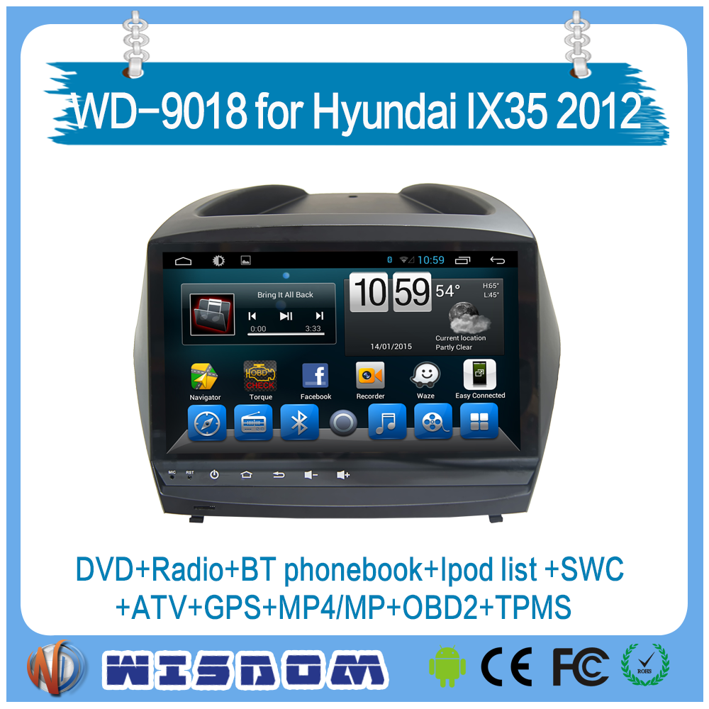 navigation for hyundai ix35/Tucson 2009 2010 2011 2012 car audio system with functions of bluetooth ipod tpms swc car multimedia