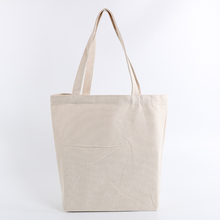Wholesale in stock promotional custom printed plain eco recycled organic white black fashion shopping cotton canvas tote bags