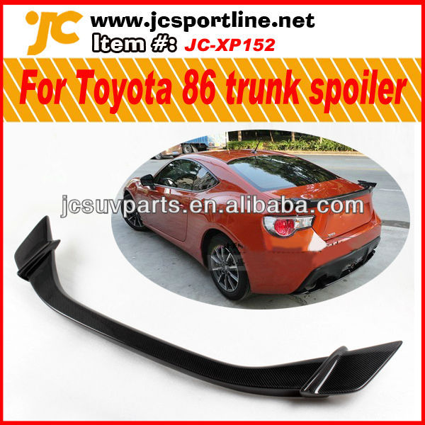 Auto carbon trunk lip for Toyota 86 SCION FRS GT86 GTS / BRZ rear spoiler auto boot wing spoiler