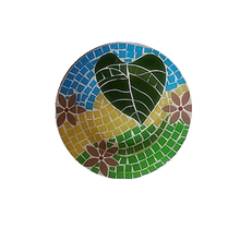Wedding Celebration Ocean Pattern Mosaic Glass Colored Murano Modern Decorative Plate