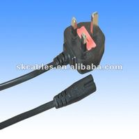 pvc insulated British Standard power supply cord