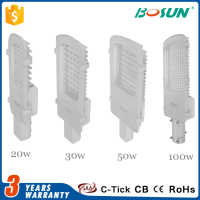 own patent design aluminum body 20w 30w 50w 60w 100w integrated solar street light