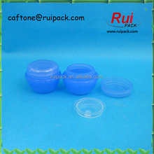 5ml, 10ml, 20ml plastic blue jar, PP cosmetic container for hand cream