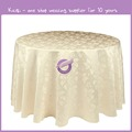 TT00211 fancy damask 132 inch round embroidered flower design table cloth table