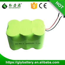 GLE C 4000mAh NI-MH 7.2V Rechargeable Battery Pack