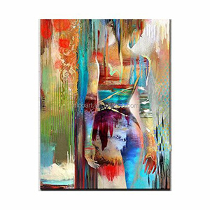 Hand painted Modern Abstract Sexy Girl Oil Painting On Canvas Nude Sex Artist Oil Painting For Wall Decoration