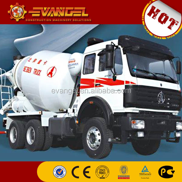 used portable concrete mixer for sale for sale BEIBEN brand concrete mixer truck from China