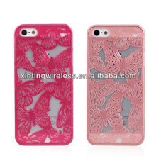 butterfly hard pc case for Apple iphone5