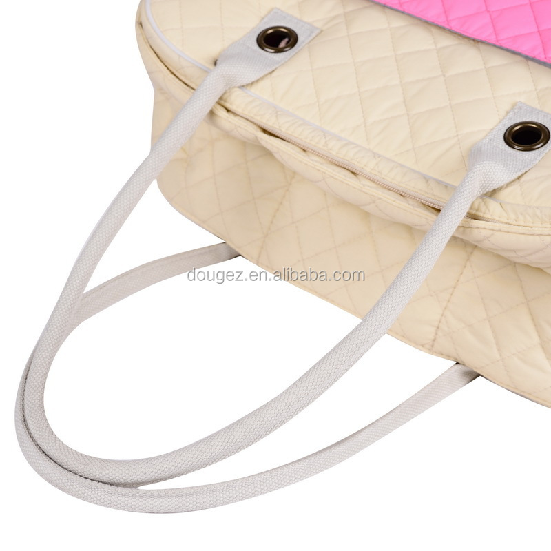 High quality pu pet outdoor strap dog and cat travel bag / pet cat and dog carry bag