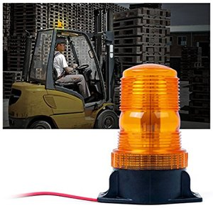Amber/Yellow 15W Emergency Warning Flashing Safety Strobe Beacon Light for Forklift Truck Tractor Golf Carts UTV Car Bus