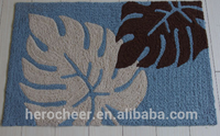 Wholesale fashion washable custom machine embroidery design printed polyester door mat