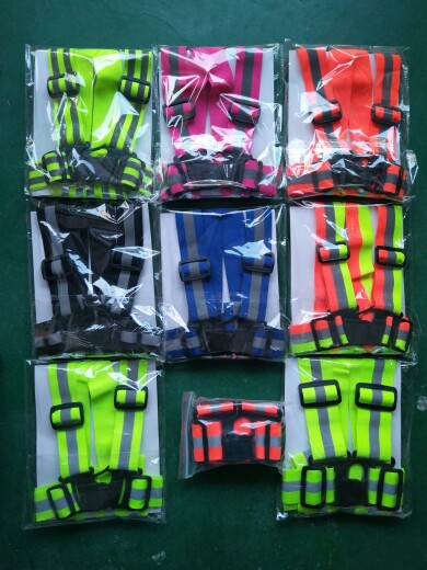 customize lemon yellow color high vis vest reflective safety belt