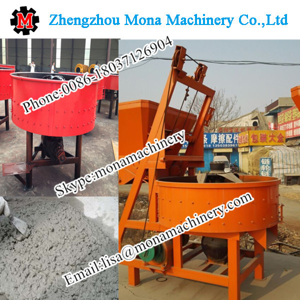 Industerial Concrete Pan Mixer For Semi - Auto Cement Block Paver Tiles Making Machine Price For Sal