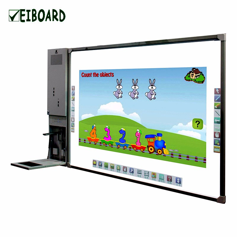 Classroom ultra short throw projector with multimedia PC best infrared interactive whiteboard