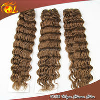 100% brazilian hair weave Unprocessed Ombre deep wave bohemian chocolate hair weave