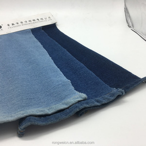 CHINA TOP 10 SALES ROPE DYE INDIGO FABRIC 100% organic cotton knitted denim jeans fabric