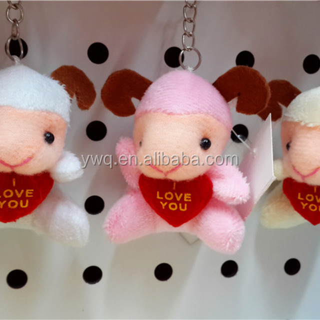 Customed small keychains Sheep toys / sheep keychains /keychains of stuffed plush