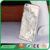 new arrival 3d sublimation metal skin hard plating PC cover angle wings case for apple iphone