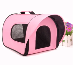 New compact designed for dog and cat(Pink) travel pet carrier pet bags