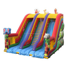 high quality inflatable maxi jungle slide, inflatable double lane animal dry slide, inflatable dry slide