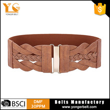2017 European Style Fashion Woman Vintage Elastic Belt For Dress Coats