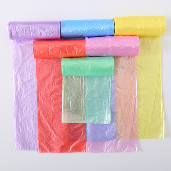 Hot sale & high quality mutlicolor garbage plastic bag