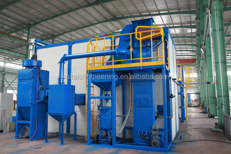 KAITAI series piled and released type shot blasting machine / sand peening room OEM