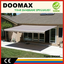 #DX300 Balcony Retractable Waterproof Half Round Awning