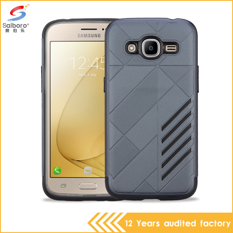 slim armor 2 in 1 PC+TPU anti gravity mobile phone case for Samsung Galaxy J210