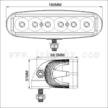 Auto electrical part 6 Inch 18W LED new led technology light