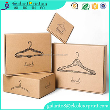 Simple logo custom eco paper gift box for sweater packing clothing packaging cardboard box