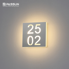 Customized LOGO and number wall light & doorplate wall light & led wall light with number
