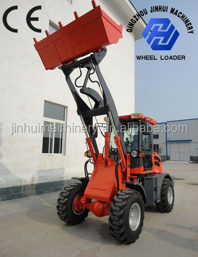 China 1500kg Mini loader with Euro III engine and quick coupler