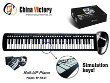 china victory roll up piano,portable roll up piano ep-k61t,piano