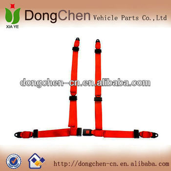High quality polyester 4 point seat belt for racing car