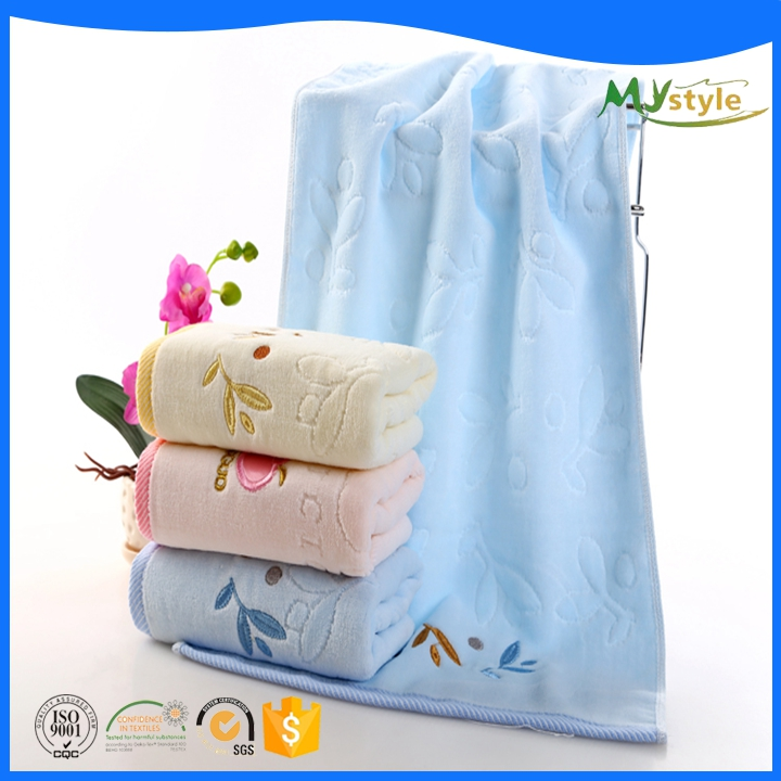 High Quality embroider logo Organic 100% Egyptian Cotton Weave Bath Towels