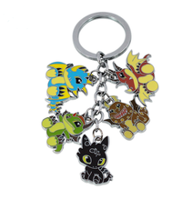 How to Train Your Dragon Five Animals Keychain Cute Dinosaurs Decoration Key Chain