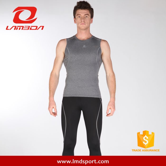 LAMBDA Cooling Weightlifting Custom Plain Gray Singlets for Running or <strong>Cycling</strong>
