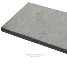 Blue limestone pool coping tile