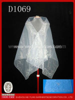 D1069 Fashion Beaded Organza Shawl for Ladies in Wedding Party