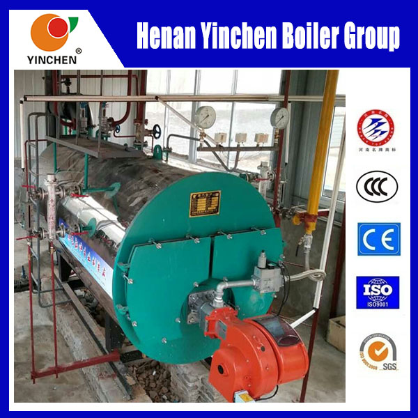 Oil/Gas twin fuel fired steam boiler 500kg to 12000kg
