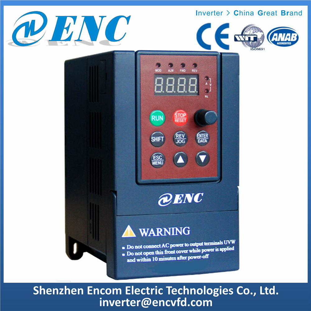 EDS800 Mini AC Drive Low Voltage 220V 380V VFD Lower Power 0.2-1.5kW Frequency Inverter