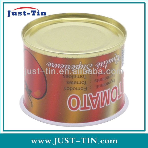 539 70g round food small metal tins cans for tomato paste