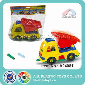 eco friendly children Wholesale educational truck assemble toy with good choise
