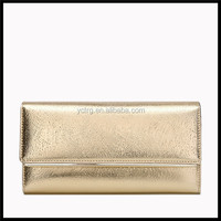 Promotional fashion bright cow leather wallet for lady